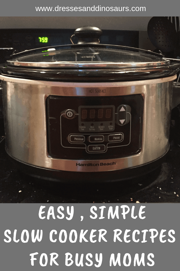 Check out these easy, simple slow cooker recipes that make great dinners!