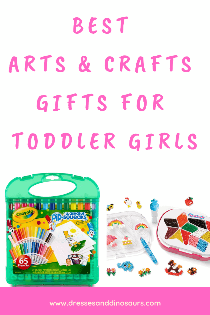 Check out these great arts and crafts gift ideas for toddler girls!