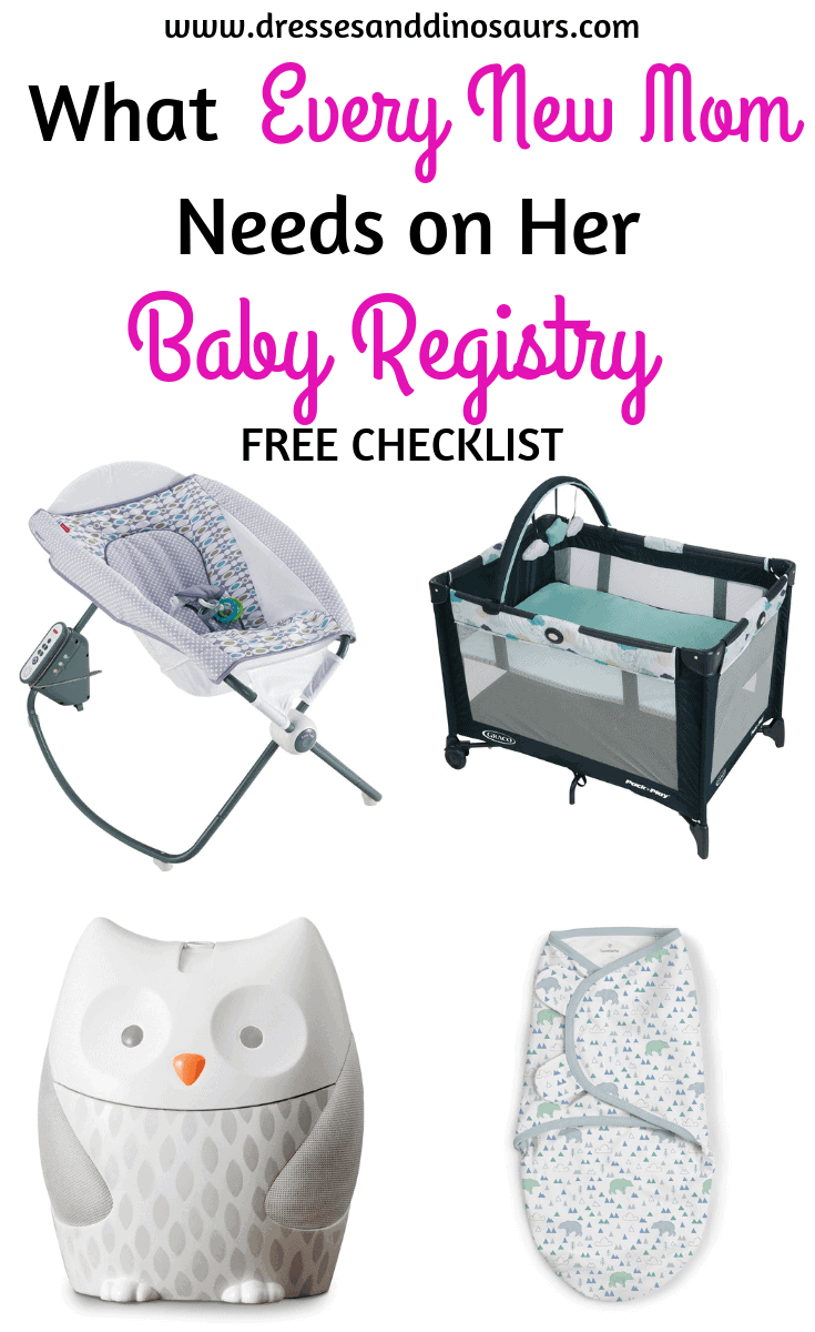Are you a soon-to-be new mom and looking for ideas for your baby registry?  Check out this list of must have items to include, plus a FREE baby registry checklist!
