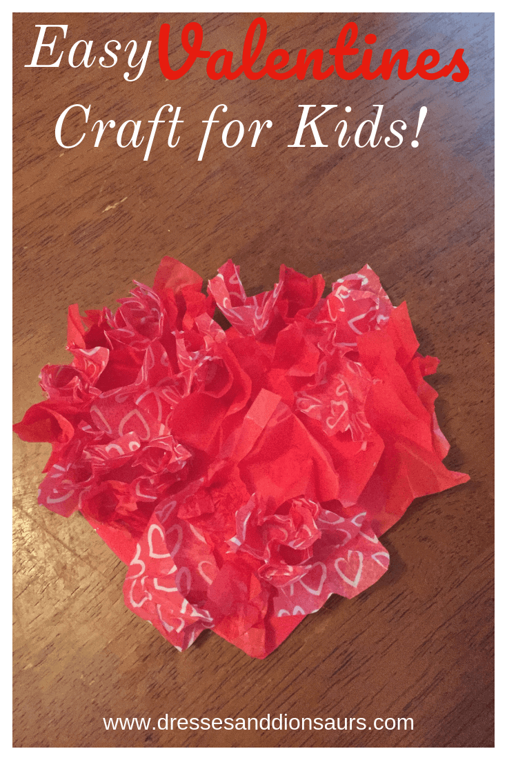 Looking for an easy Valentines day craft for kids?  Check out how to make this tissue paper heart decoration!