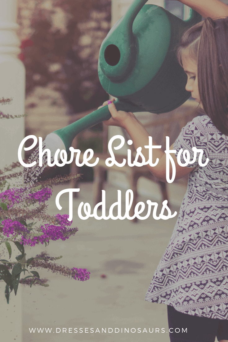 Looking for some ideas of chores for your toddlers to help with?  Check these out and get a free printable chore chart!